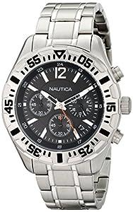 Nautica Men's N19628G NST 402 Analog Display Quartz Silver Watch