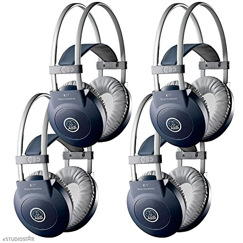 Akg K77 Studio Dj Headphone Closed-Back K 77 Headphone 4 Pack