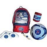 Kit d'entrainement enfant PSG - sac à dos + ballon + pompe + plots + brassard de capitaine - Collection officielle Paris Saint Germain - Football Supporter - Ligue 1