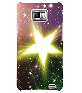 PrintDhaba Big Star D-2189 Back Case Cover for SAMSUNG GALAXY S2 (Multi-Coloured)
