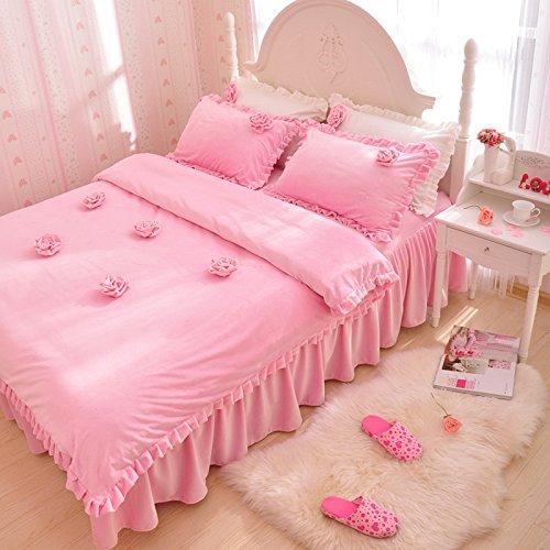 Rose Pink Duvet Cover Set Princess Bedding Girls Bedding Women Bedding Gift Idea, Queen Size