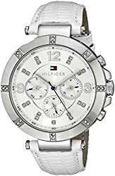Tommy Hilfiger Women's 1781535 Sport Lux Analog Display Quartz White Watch