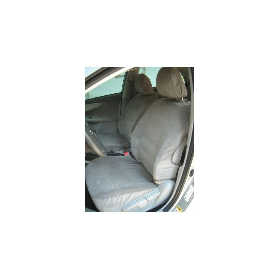 Exact Seat Covers, T985 V4, 2009 2010 Toyota Corolla Front Bucket Seats Custom Exact Fit Seat Covers, Taupe Velour