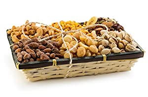 Roasted Savory Nutty 6 Sections of Freshly Roasted Nuts Tray, The Best Gift For a Nut Lover