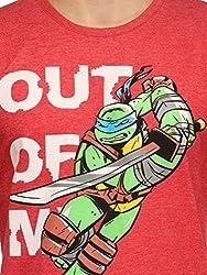 Slingshot Men's Trendy Round Neck Ninja Turtles Cotton Red T-shirt SS16-TM-20-M-Red-Medium