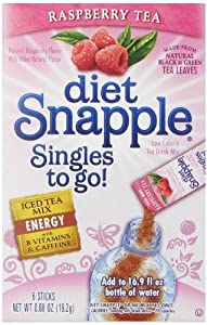 Diet Snapple Singles To Go Raspberry Tea Pack of 12 from The Jel Sert Company