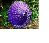 【紫・赤・緑】和傘 番傘 紙傘 薄鬼桜 銀魂 神楽 花吹雪 (紫)653P