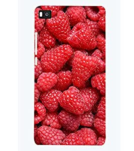 printtech Strawberry Back Case Cover for Huawei P8