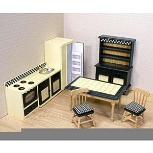 Melissa & Doug Deluxe Doll-House Kitchen Furniture