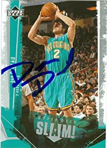 Dan Dickau Autographed Hand Signed Basketball Card (New Orleans Hornets) 2005 Upper...
