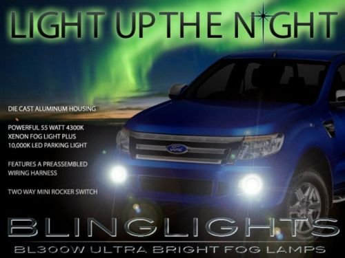 2012 2013 2014 Ford Ranger Xenon Fog Lamps Driving Lights Kit