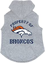 Denver Broncos Premium Pet Dog Sleeveless Button Up Hoodie Sweatshirt XL