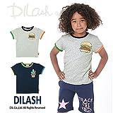 (ディラッシュ) DILASH盛夏'16/ガーゼ天竺ワンポイント半袖Tシャツ 130 グレー