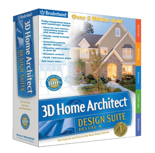 Individual software prx th8 total 3d home deluxe 8 for Broderbund 3d home landscape design