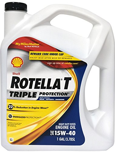 Rotella 550019913 T Triple Protection CJ-4 15W-40 Motor Oil - 1 Gallon (Motor Oil Shell 15w40 compare prices)