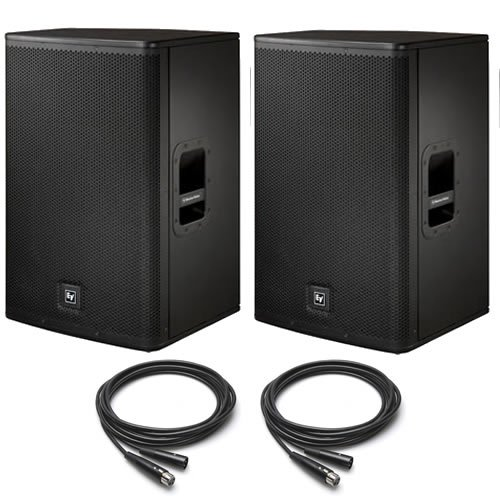 "Ev Electro Voice Elx115P 15"" Active/Powered Pa Speakers Pair (2) 25"