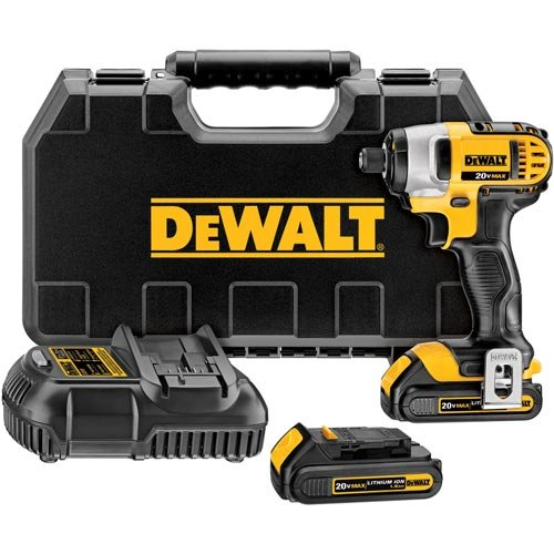 "Dewalt Dcf885C2R Factory Reconditioned 20 Volt Max 1.5Ah Lithium Ion 1/4"" Impact Driver Kit, N/A"