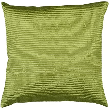 Surya PC-1006 Machine Made 100% Poly Satin Lime 20 x 20 Decorative Pillow