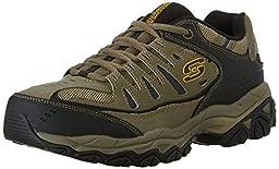 Skechers Sport Men\'s Afterburn Memory Foam Lace-Up Sneaker,Pebble/Black,10.5 M US