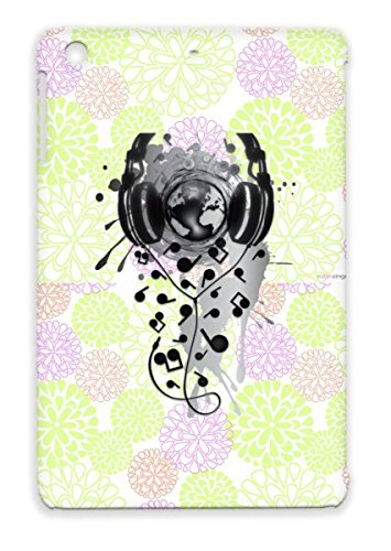 Our Music Gray Notes Quaver Miscellaneous Globe Graphic Design Earth Headphones Interface Music For Ipad Mini Case