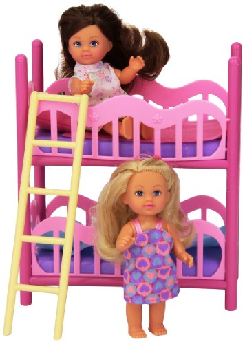 Evi Love 2 In 1 Bunk Bed With 2 Dolls & Bedding front-88572