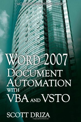 Word 2007 Document Automation with VBA and Vsto (Wordware Applications Library) by Driza, Scott (2008) Paperback