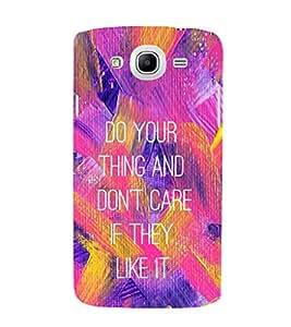 EPICCASE Don't Care Mobile Back Case Cover For Samsung Galaxy Mega 5.8 I 9150 (Designer Case)