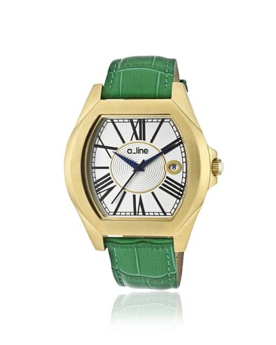 a_line Women's 80008-YG-02-GN Adore Green Leather Watch