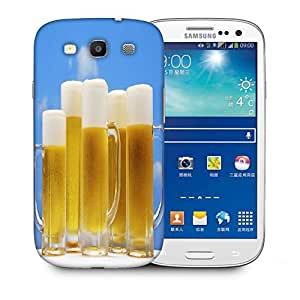 Snoogg Beer Glasses Printed Protective Phone Back Case Cover For Samsung S3 / S III