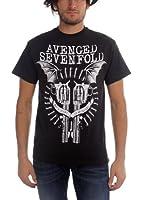 AVENGED SEVENFOLD - Avenged Sevenfold - Bat Guns Homme Noir T-Shirt In Black
