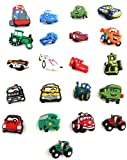 21 pcs Set of Shoe Charms Cars
