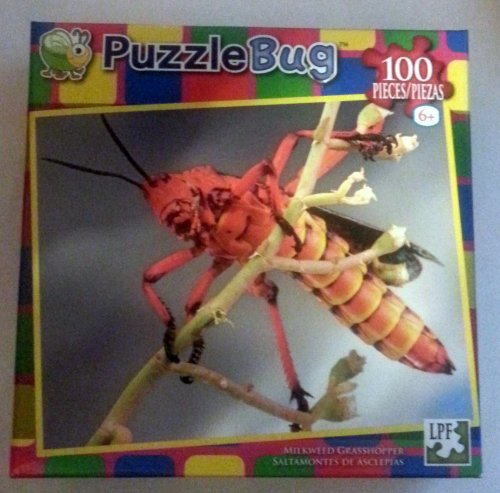 PuzzleBug 100 Piece Puzzle Milkweed Grasshopper by LPF - 1