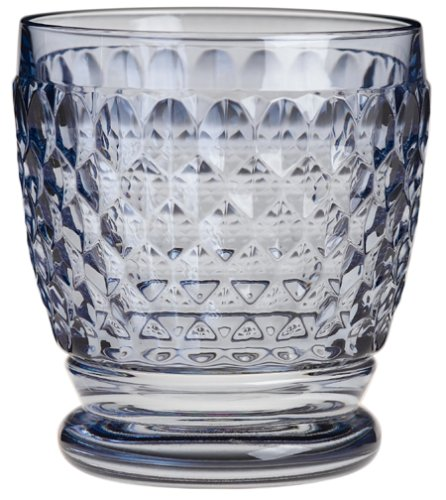 Buy Villeroy & Boch Boston Blue Crystal Double Old-Fashioned Glasses, Set of 4