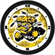 "Wichita State Shockers Suntime 12"" Dimension Glass Crystal Wall Clock - NCAA College Athletics"
