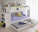 90x200 Kinder Etagenbett Weiß