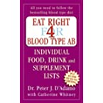 Book Review on Eat Right for Blood Type AB: Individual Food, Drink and Supplement Lists (Eat Right for Your Type) by Peter D'Adamo