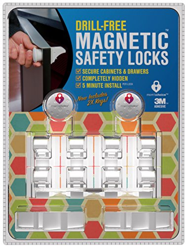 Drill-Free-Magnetic-Cabinet-Drawer-Locks-8-Locks2-Keys-Free-Shipping-Comes-With-Amazon-A-to-Z-Guarantee-Uses-Super-Strength-3M-Adhesive-For-Baby-Proofing-5-Minute-No-Tools-Installation