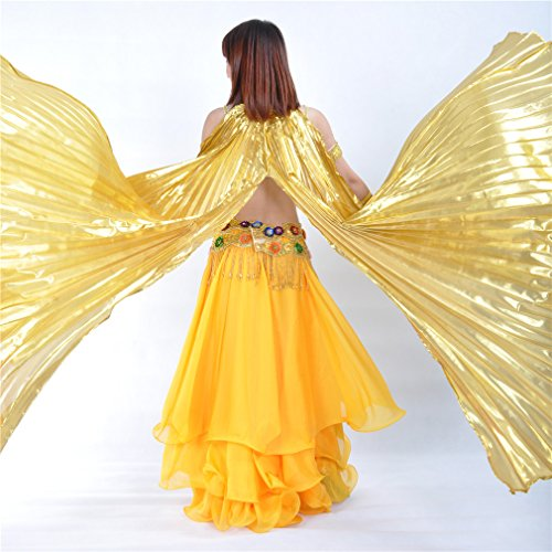 Isis Wings for Belly Dance Dreamspell® Party Golden Opening Big Dance Costume/props