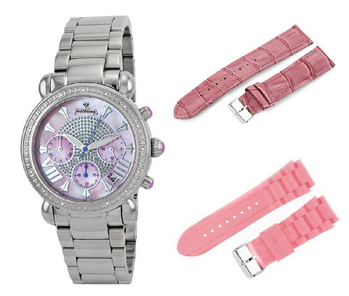 dba54d34a ... Victory Two Band Set Pink Stainless Steel Diamond Watch Overview. Cheap  JBW-Just Bling Women