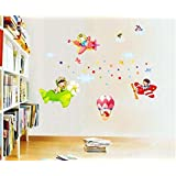 Syga Pilot Children Kids Room Decor Decals Design Wall Stickers A_SFUE