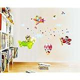 Syga Pilot Children Kids Room Decor Decals Design Wall Stickers A_SFUE