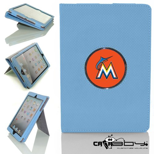 New Rubberized Tech-Grip Apple Mini Ipad & mini ipad with retina Case with SLEEP SMART by Calaboy includes Personalized picture Frame w Florida Miami Marlins Logo (BB28) at Amazon.com