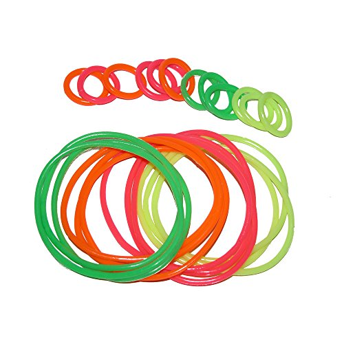 Girlprops 12 Rubber Jelly Bracelets with 12 Rings, in Assorted