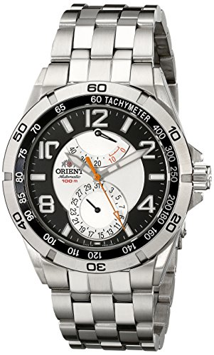 Orient Mens CFM00001S Power Reserve Semi-Skeleton Silver Automatic Watch<br />
