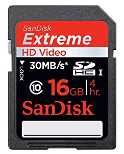 SanDisk Extreme HD Video 16 GB SDHC Class 10 Memory Card (SDSDRX3-016G-A21)
