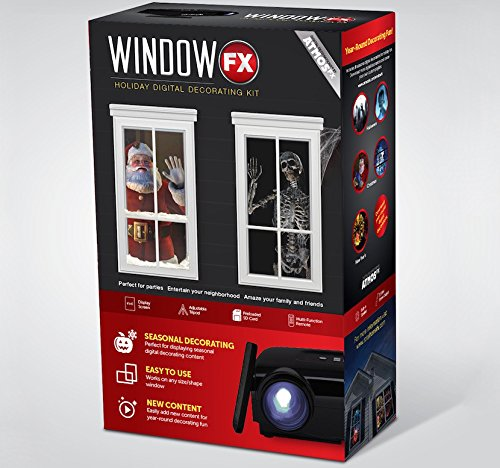 Windowfx-Atmos-Digital-Projector-Decorating-Kit-Includes-Pre-loaded-Halloween-and-Christmas-Images-Digital-Projector-Tripod-Remote-Control-and-Standard-Window-Projection-Material