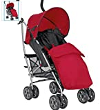 Mamas & Papas Red Swirl Pushchair Package