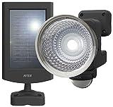 ムサシ RITEX フリーアーム式LEDセンサーライト(1.3W×1灯) 「ソーラー式」 防雨型 S-15L