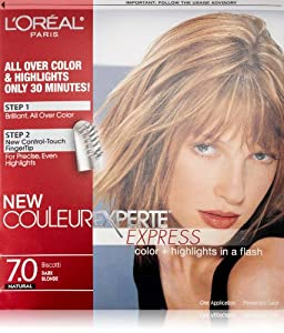 L'Oreal Paris Couleur Experte Express Hair Color, 7 Dark Blonde/Biscotti