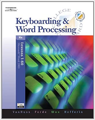 Keyboarding & Word Processing, Lessons 1-60 (with Data CD-ROM) (Available Titles CengageNOW)
